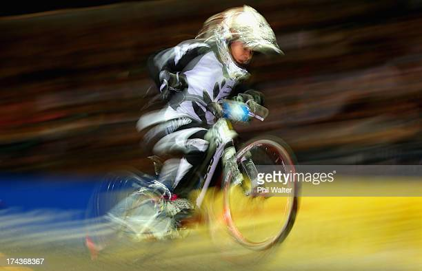 Aston BurwellGarratt of New Zealand rides in the 5 6 year old boys during day two of the UCI BMX World Championships at Vector Arena on July 25 2013...