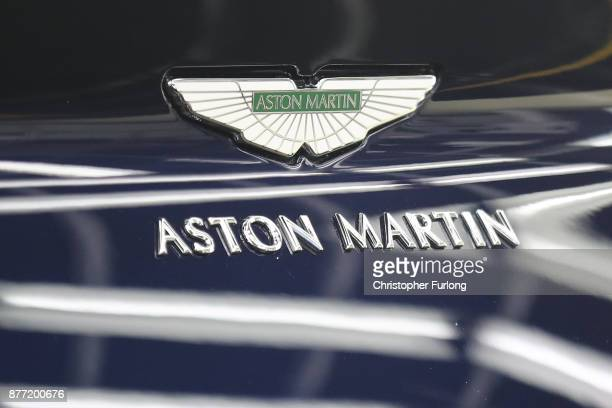 Aston Martin cars are illuminated for final inspection at the company's manufacturing site during a visit by Labour Leader Jeremy Corbyn on November...