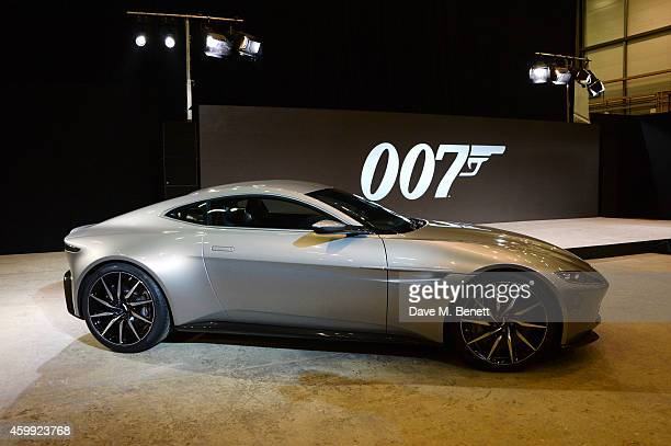 Aston Martin db10 at a photocall with cast and filmmakers to mark the start of production which is due to commence on the 24th Bond Film and announce...