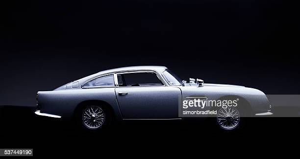 Aston Martin DB5 Scale Model On Black