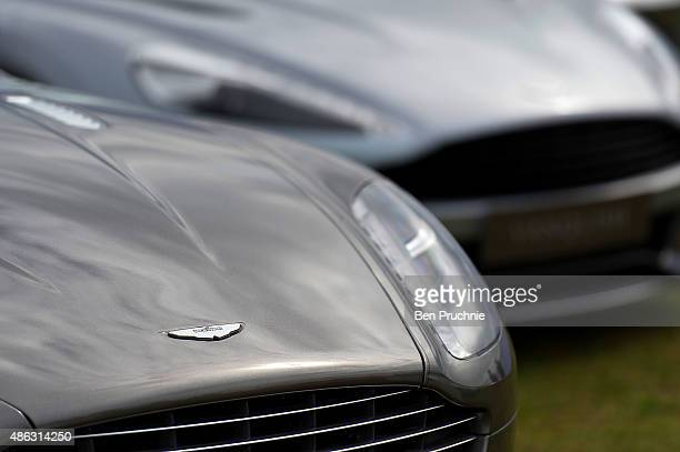 Aston Martin displayed at the Salon Prive luxury car event at Blenheim Palace on September 3 2015 in Woodstock England Salon Prive luxury car show...