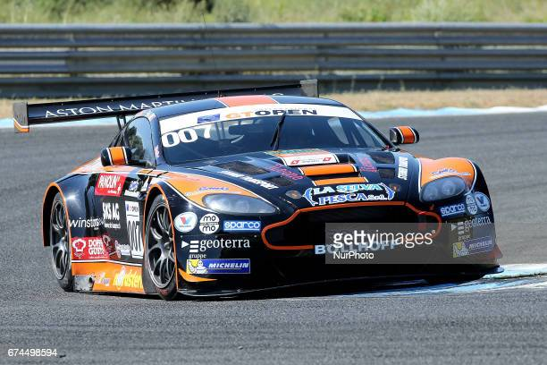 Aston Martin Vantage GT3 of Solaris Motorsport driven by Mauro Calamia and Francesco Sini during free practice of International GT Open at the...