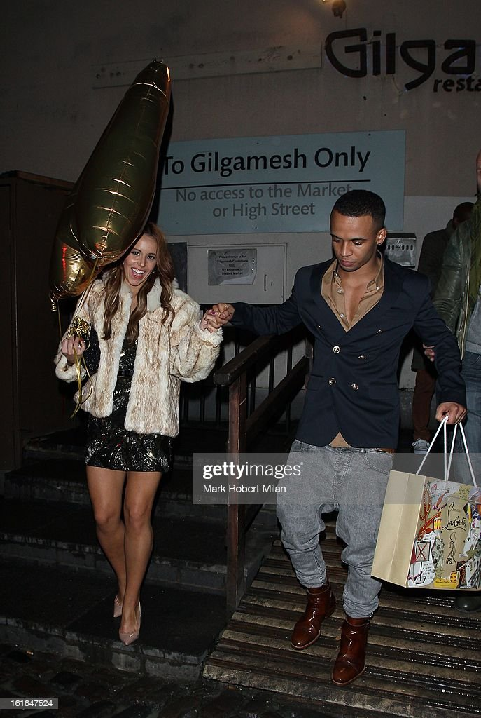 <a gi-track='captionPersonalityLinkClicked' href=/galleries/search?phrase=Aston+Merrygold&family=editorial&specificpeople=5739699 ng-click='$event.stopPropagation()'>Aston Merrygold</a> at Gilgamesh restaurant for his birthday celebration on February 13, 2013 in London, England.