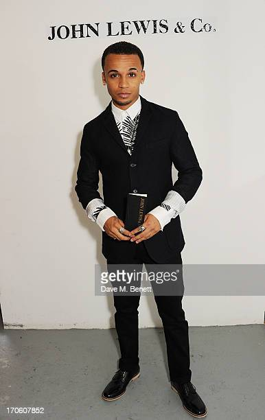 Aston Merrygold attends the John Lewis debut presentation at London Collections Men where the British retailer showcased its John Lewis Co...