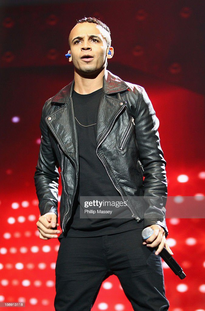 Aston Merrygold from JLS performs at the Cheerios Childline concert at 02 on November 24, 2012 in Dublin, Ireland.