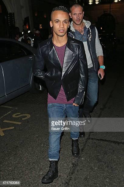Aston Merrygold is seen leaving a nightclub on November 15 2012 in London United Kingdom