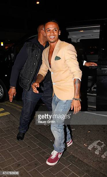 Aston Merrygold is seen on August 11 2012 in London United Kingdom