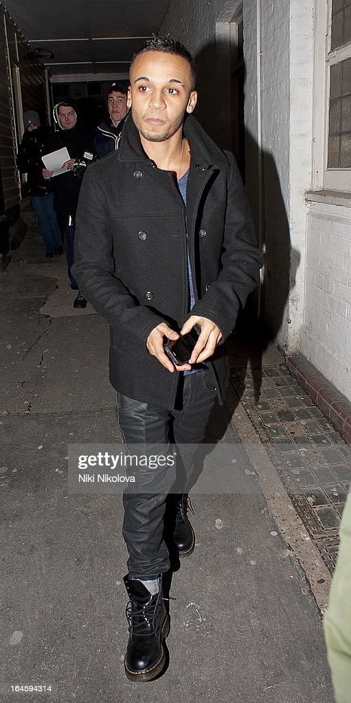 Aston Merrygold leaving Amika Club on March 24, 2013 in London, England.
