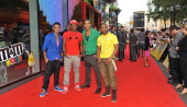 Aston Merrygold Marvin Humes Oritse Williams and JB Gill of JLS attend the launch of MM's World on July 6 2011 in London England
