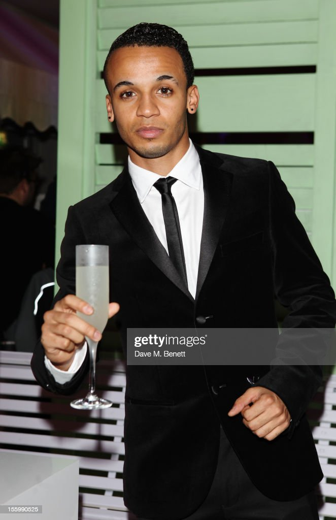 Aston Merrygold of JLS arrives at the Grey Goose Winter Ball at Battersea Power Station on November 10, 2012 in London, England.