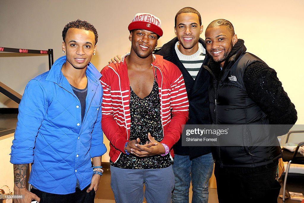 <a gi-track='captionPersonalityLinkClicked' href=/galleries/search?phrase=Aston+Merrygold&family=editorial&specificpeople=5739699 ng-click='$event.stopPropagation()'>Aston Merrygold</a>, Oritsé Williams, <a gi-track='captionPersonalityLinkClicked' href=/galleries/search?phrase=Marvin+Humes&family=editorial&specificpeople=2887070 ng-click='$event.stopPropagation()'>Marvin Humes</a> and JB of JLS meet fans and sign copies of their new album 'Jukebox' at HMV on November 16, 2011 in Manchester, England.