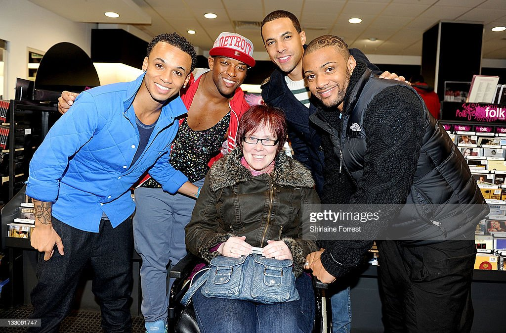 <a gi-track='captionPersonalityLinkClicked' href=/galleries/search?phrase=Aston+Merrygold&family=editorial&specificpeople=5739699 ng-click='$event.stopPropagation()'>Aston Merrygold</a>, <a gi-track='captionPersonalityLinkClicked' href=/galleries/search?phrase=Oritse+Williams&family=editorial&specificpeople=5739700 ng-click='$event.stopPropagation()'>Oritse Williams</a>, <a gi-track='captionPersonalityLinkClicked' href=/galleries/search?phrase=Marvin+Humes&family=editorial&specificpeople=2887070 ng-click='$event.stopPropagation()'>Marvin Humes</a> and JB of JLS meet fans and sign copies of their new album 'Jukebox' at HMV on November 16, 2011 in Manchester, England.