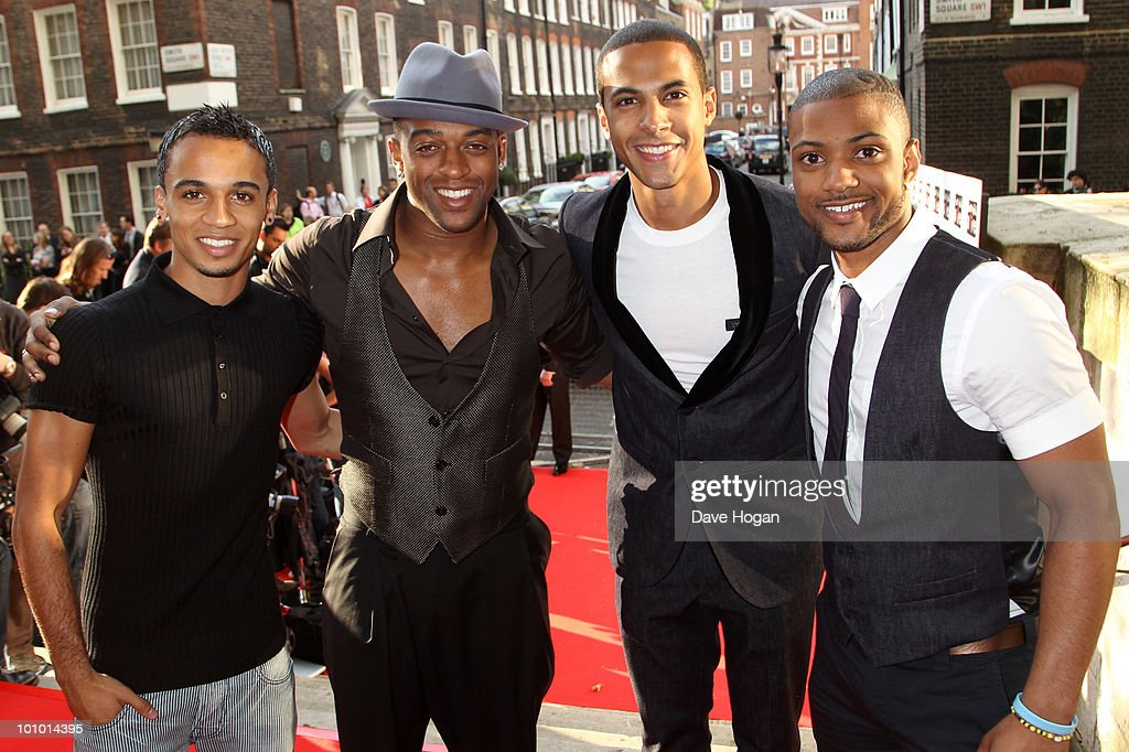 L-R Aston Merrygold, Oritse Williams, Marvin Humes and Jonathan JB Gill of JLS arrive at the Keep A Child Alive Black Ball held at St John's, Smith Square on May 27, 2010 in London, England.