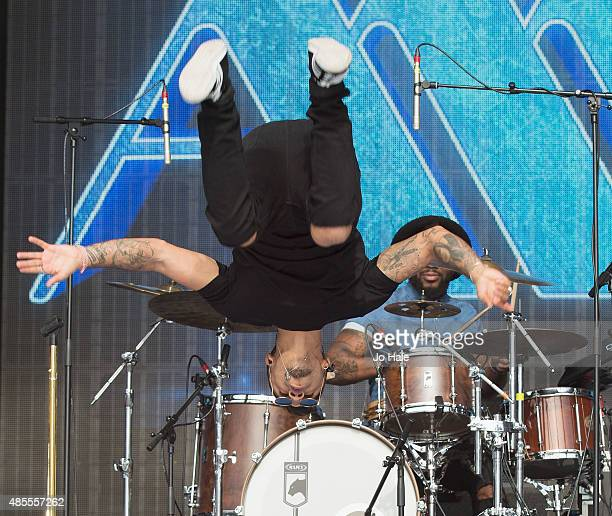 Aston Merrygold performs on stage at Fusion Festival on August 28 2015 in Birmingham England