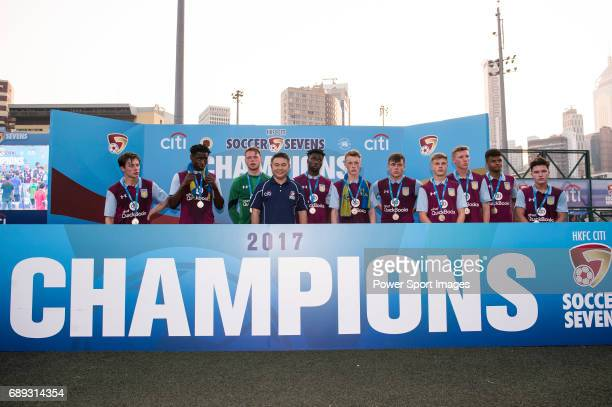 Aston Villa are the runnerups of the Main Tournament Cup Final during the HKFC Citi Soccer Sevens 2017 on 28 May 2017 at the Hong Kong Football Club...