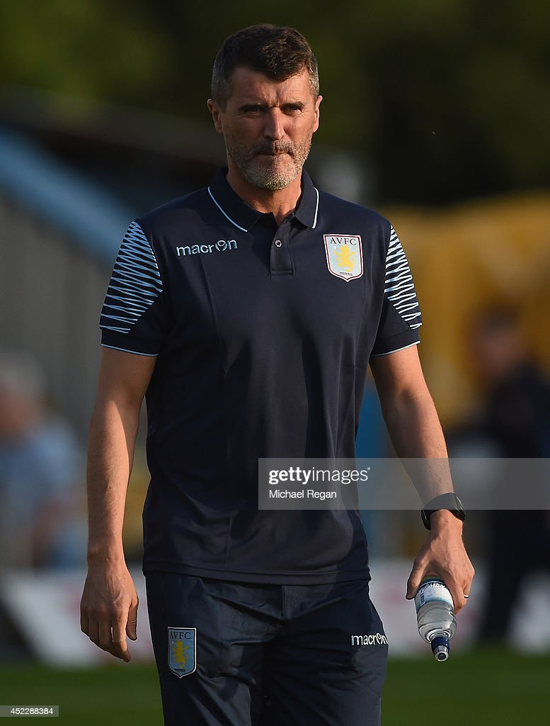 Aston Villa assistant manager Roy Keane looks on during the pre-season friendly match between Mansfield and Aston Villa at the One Call Stadium on July 17, 2014 in Mansfield, England.