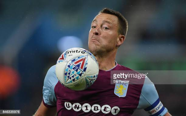 Aston Villa captain John Terry in action during the Sky Bet Championship match between Aston Villa and Middlesbrough at Villa Park on September 12...