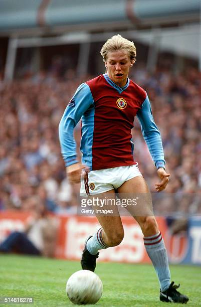 Aston Villa goalkeeper Gary Shaw in action during a Division One match at Villa Park circa 1982
