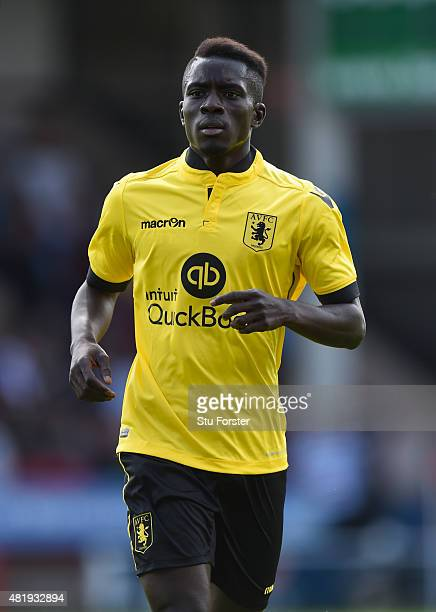 Aston Villa player Idrissa Gueye in action during the pre season friendly between Walsall and Aston Villa at Banks' Stadium on July 25 2015 in...