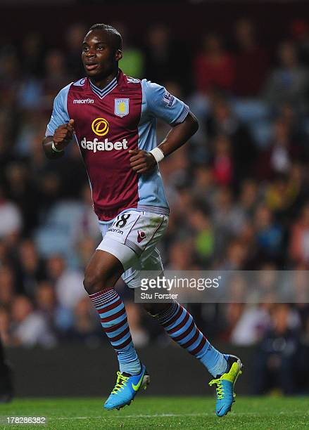 Aston Villa player Yacouba Sylla in action during the Capital One Cup second round match between Aston Villa and Rotherham at Villa Park on August 28...