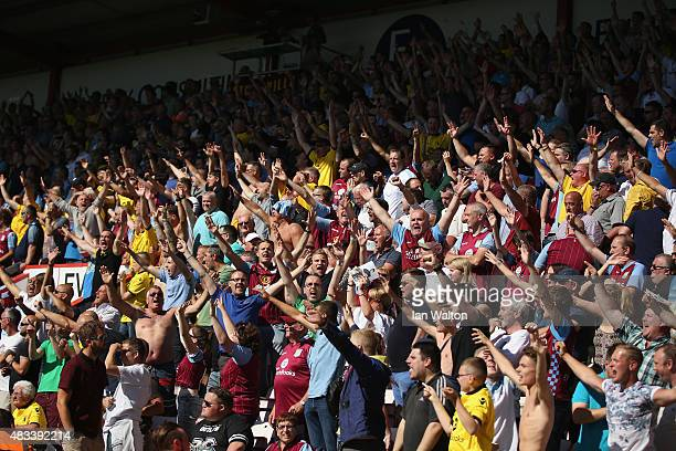Aston Villa supporters are seen during the Barclays Premier League match between AFC Bournemouth and Aston Villa at Vitality Stadium on August 8 2015...