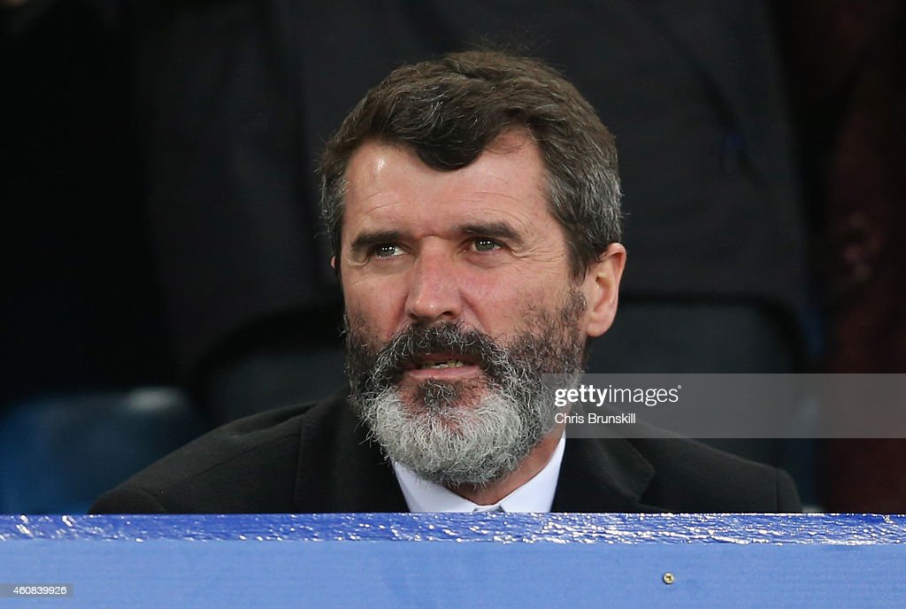 Aston Villa Villa Roy Keane looks on during the Barclays Premier League match between Everton and Stoke City at Goodison Park on December 26 2014 in...