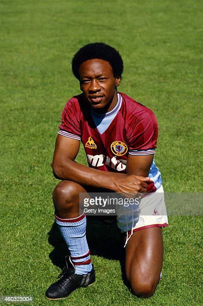 Aston Villa winger Mark Walters pictured prior to the 1984/85 season at Villa Park Birmingham England