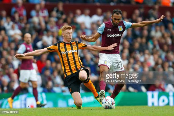 Aston Villa's Ahmed Elmohamady in action with Hull City's Sam Clucas during the Sky Bet Championship match at Villa Park Birmingham