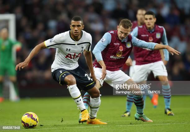 Aston Villa's Andreas Weimann and Tottenham Hotspur's Etienne Capoue