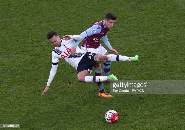 Aston Villa's Ashley Westwood and Tottenham Hotspur's Dele Alli battle for the ball