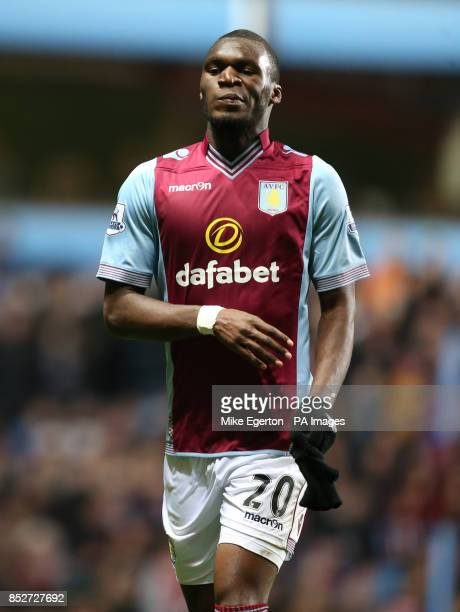 Aston Villa's Christian Benteke during the Barclays Premier League match at Villa Park Birmingham