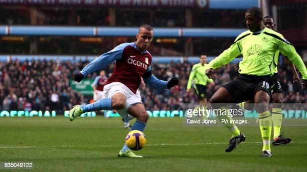 Aston Villa's Gabriel Agbonlahor during the Barclays Premier League match at Villa Park Birmingham