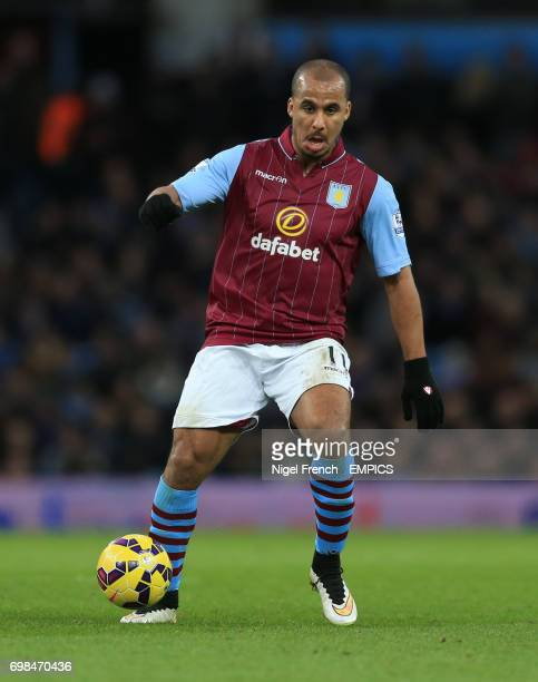 Aston Villa's Gabriel Agbonlahor was sent off against Manchester United