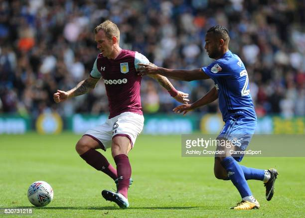 Aston Villa's Glenn Whelan in action during the Sky Bet Championship match between Cardiff City and Aston Villa at Cardiff City Stadium on August 12...