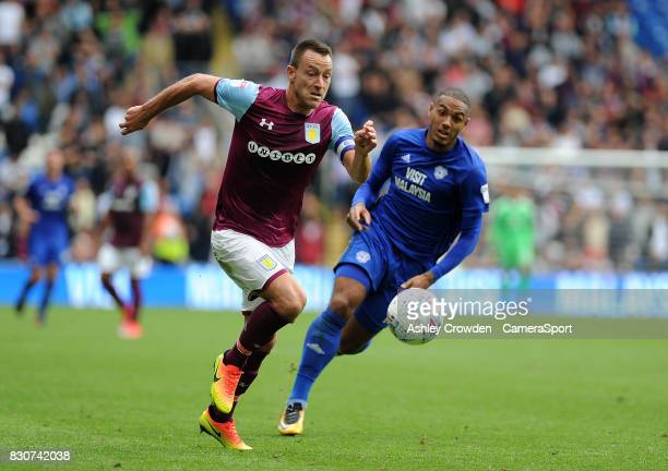 Aston Villa's John Terry in action during the Sky Bet Championship match between Cardiff City and Aston Villa at Cardiff City Stadium on August 12...