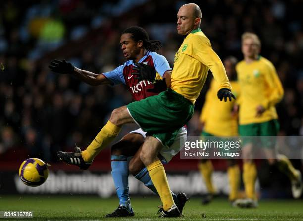 CROP** Aston Villa's Nathan Delfouneso and MSK Zilina's Vladimir Leitner battle for the ball