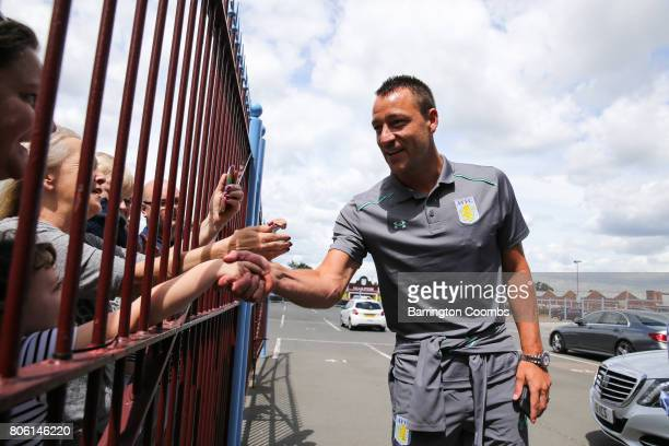 Aston Villa's new signing John Terry meets supporters before the press conference at Villa Park on July 3 2017 in Birmingham England