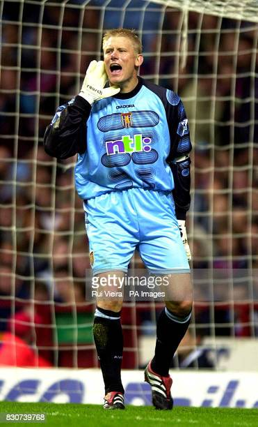 Aston Villa's Peter Schmeichel during the Barclaycard Premiership clash between Aston Villa v Fulham at Villa Park Birmingham PHOTO RUI VIEIRATHIS...