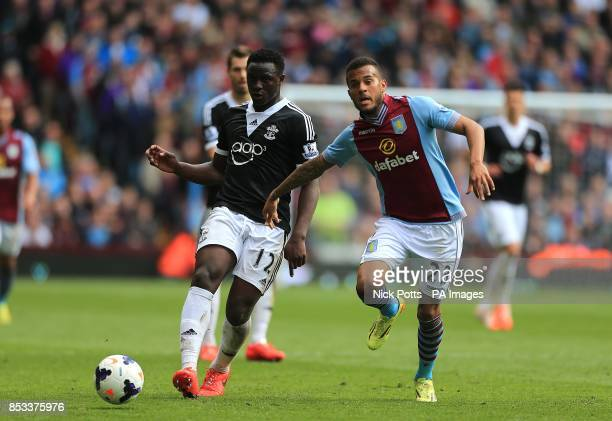 Aston Villa's Ryan Bertrand and Southampton's Victor Wanyama battle for the ball
