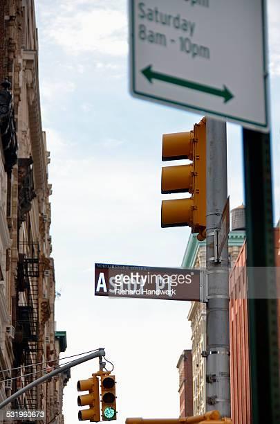 Astor Place signage.