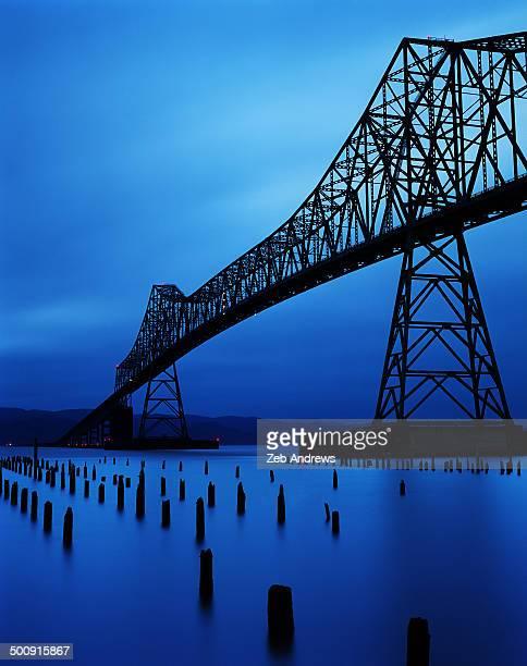Astoria Megler Bridge at twilight