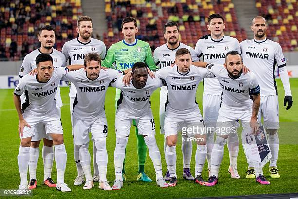 Astra Giurgiu team at the begining of the UEFA Europa League 20162017 Group E game between FC Astra Giurgiu and FC Viktoria Plzen at National Arena...