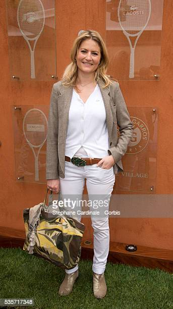 Astrid Bard attends Roland Garros Tennis French Open 2013