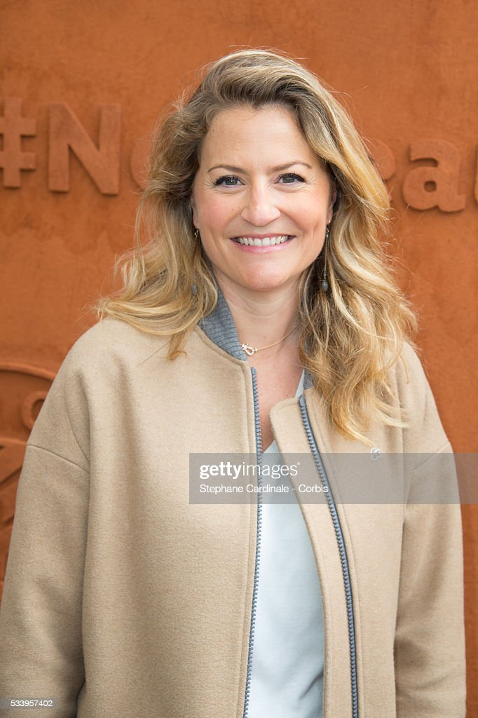 Astrid Bard attends the 2016 French tennis Open day 3, at Roland Garros on May 24, 2016 in Paris, France.
