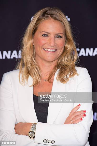 Astrid Bard attends the Canal Press Conference in Paris