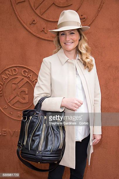 Astrid Bard attends the Roland Garros French Tennis Open 2014