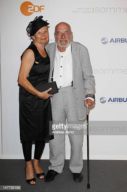 Astrid Berge and partner Peter Lustig attend the ZDF summer reception on July 2 2012 in Berlin Germany