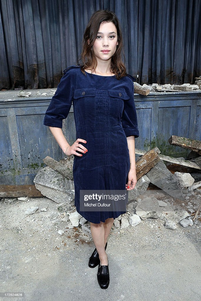 Astrid Berges Frisbey attends the Chanel show as part of Paris Fashion Week Haute-Couture Fall/Winter 2013-2014 at Grand Palais on July 2, 2013 in Paris, France.