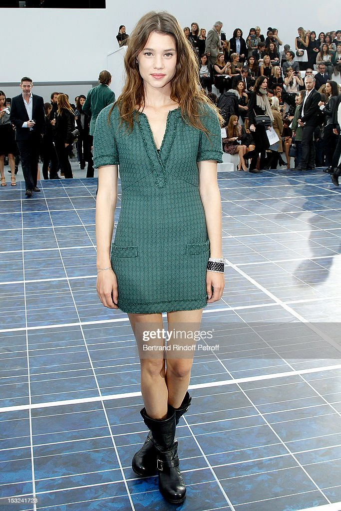 Astrid Berges Frisbey attends the Chanel Spring / Summer 2013 show as part of Paris Fashion Week at Grand Palais on October 2, 2012 in Paris, France.