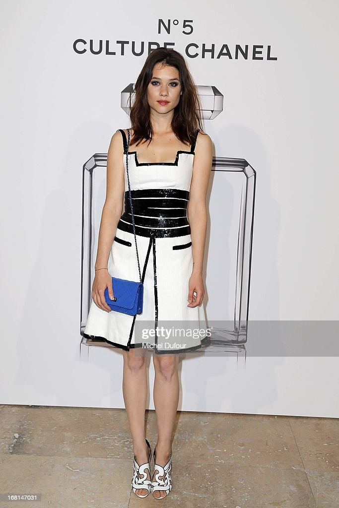 Astrid Berges Frisbey attends the 'No5 Culture Chanel' Exhibition - Photocall at Palais De Tokyo on May 3, 2013 in Paris, France.